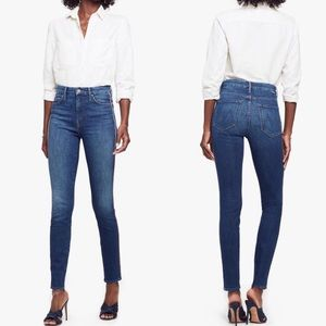 MOTHER The Looker Stripe High Waist Skinny Jeans